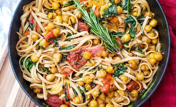 Tuscan Crispy Chickpea Pasta